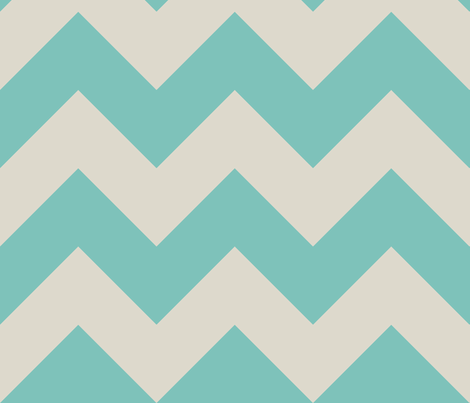 aqua_chevron fabric by barbaraneelydesigns on Spoonflower - custom fabric