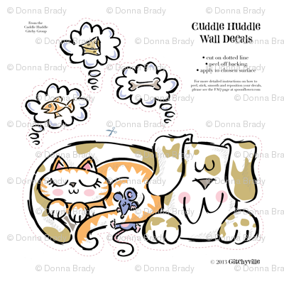 Cuddle Huddle Wall Decal 15 x 15