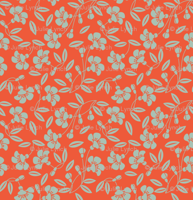 Japanese blossom orange