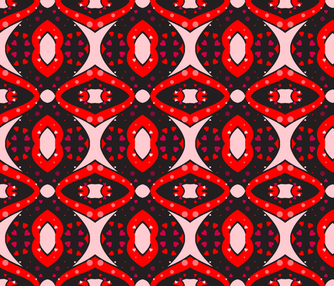 Mirrored Love fabric by ronnyjohnson on Spoonflower - custom fabric
