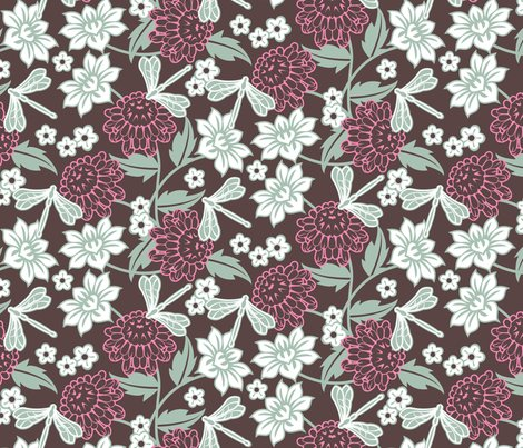 Japanese_large_floral_brown_shop_preview