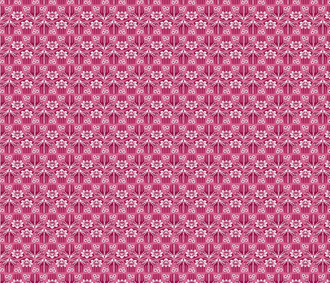 Japanese combs plum and pink fabric by cjldesigns on Spoonflower - custom fabric