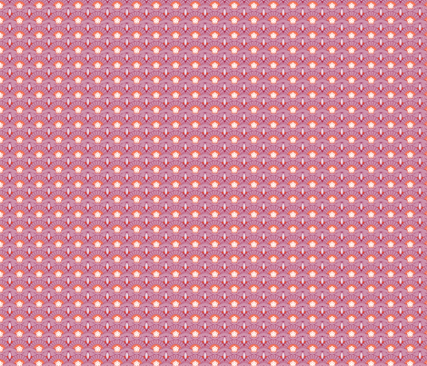 Japanese fans orange and plum fabric by cjldesigns on Spoonflower - custom fabric