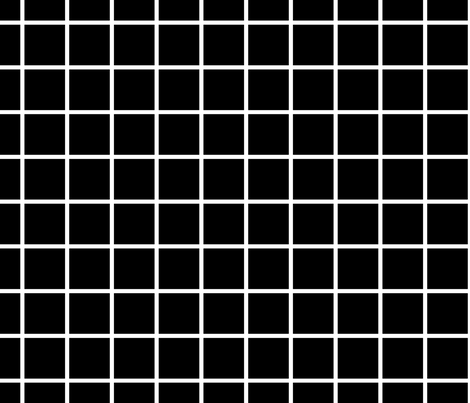 grid black fabric by alihenrie on Spoonflower - custom fabric