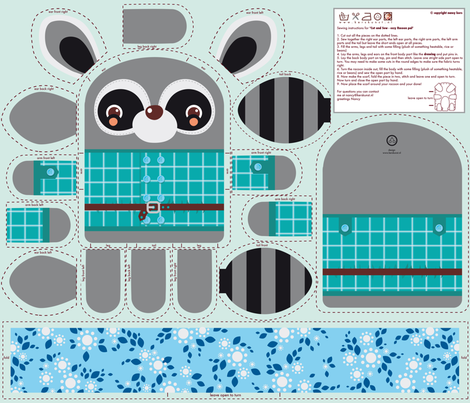 Cosy Racoon Pal fabric by verycherry on Spoonflower - custom fabric