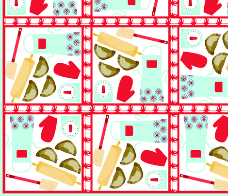 DalesFriedPies_12x12_300dpi fabric by curlywillowco on Spoonflower - custom fabric