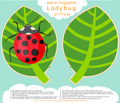 Ladybug Warm Huggable Pillow fabric by domoshar on Spoonflower - custom fabric
