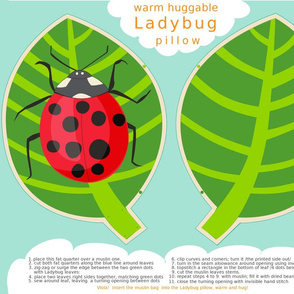 Ladybug Warm Huggable Pillow
