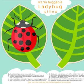 Ladybug Warm Huggable Pillow