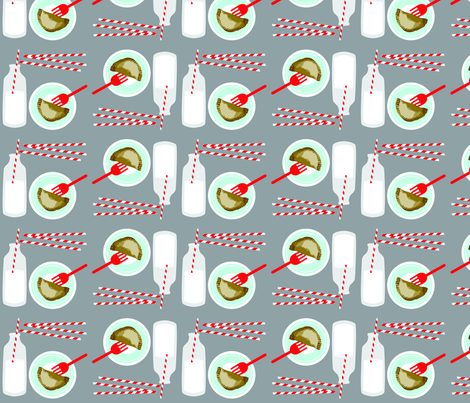 PieandMilk_300dpi fabric by curlywillowcollections on Spoonflower - custom fabric