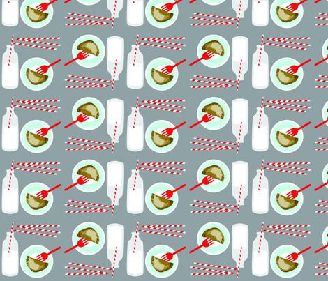 PieandMilk_300dpi fabric by curlywillowco on Spoonflower - custom fabric