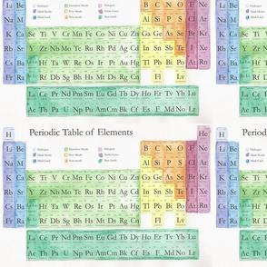 Periodic Table Watercolor