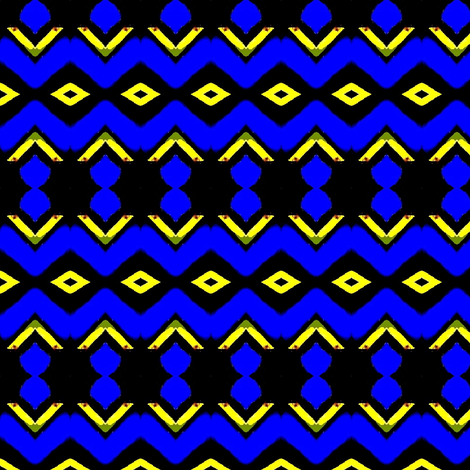 Blue African painting 03 fabric by dk_designs on Spoonflower - custom fabric