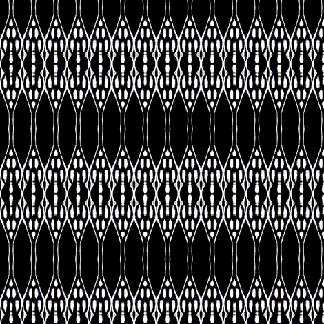Black African painting  fabric by dk_designs on Spoonflower - custom fabric