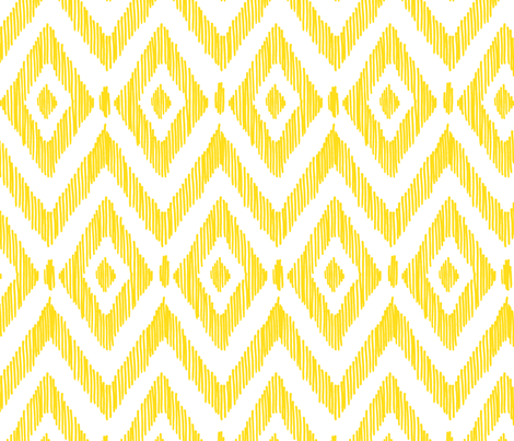 Diamond IKAT - Sunshine fabric by pattysloniger on Spoonflower - custom fabric
