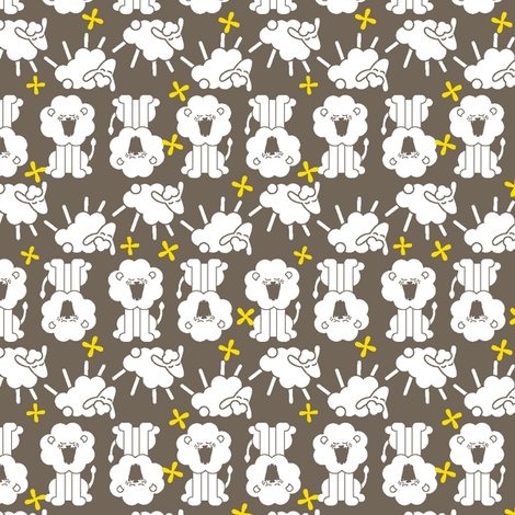 Roarin' N Gambolin' - Grey fabric by ravenous on Spoonflower - custom fabric
