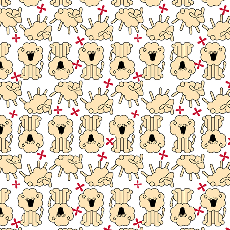 Roarin' N Gambolin' - White fabric by ravenous on Spoonflower - custom fabric