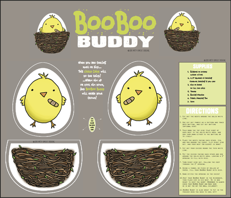 BooBoo Buddy (cut + sew critter) fabric by pattyryboltdesigns on Spoonflower - custom fabric