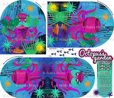 Octopus's Garden warming pillow and slip cover