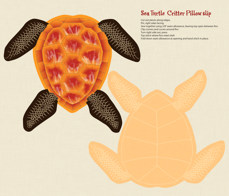 sea_turtle_critter_slip fabric by melhales on Spoonflower - custom fabric