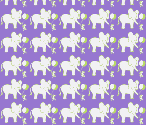 LARGE SCALE Lets Be Friends Lavender and Green fabric by kbexquisites on Spoonflower - custom fabric