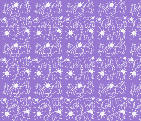 You Are My Sunshine Elephants in Lavender fabric by kbexquisites on Spoonflower - custom fabric