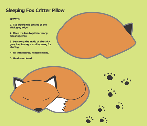 fox_critter_pillow fabric by yanagi on Spoonflower - custom fabric