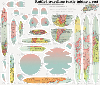 Ruffled travelling turtle taking a rest