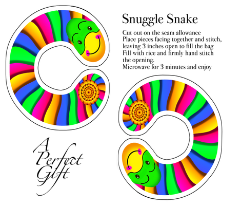 Snuggle Snake fabric by flipfashion on Spoonflower - custom fabric