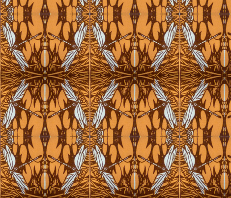 Rainy Season, Beetles and Dragonflies fabric by neekburkitt on Spoonflower - custom fabric