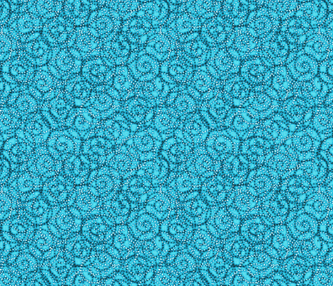 gypsy_swirls_turquoise fabric by glimmericks on Spoonflower - custom fabric