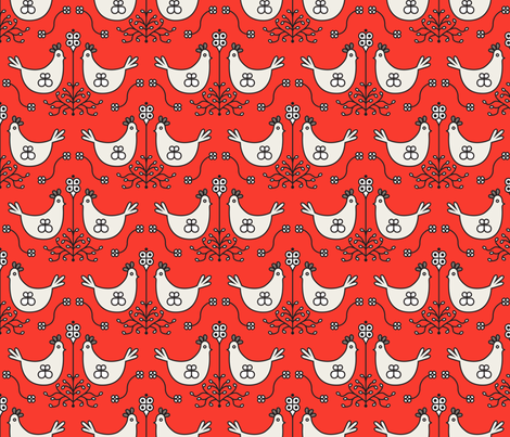 farmouse_roost_red fabric by holli_zollinger on Spoonflower - custom fabric