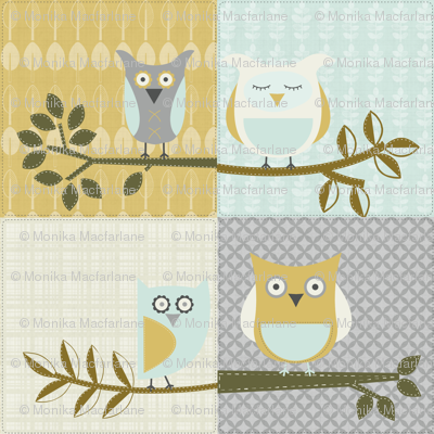 City Park Owls - Patchwork