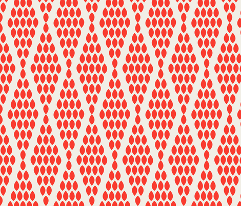 farmhouse_beaded_triangle_red fabric by holli_zollinger on Spoonflower - custom fabric
