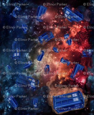 Police Boxes in Space Extra Small