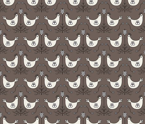 farmouse_roost_brown fabric by holli_zollinger on Spoonflower - custom fabric