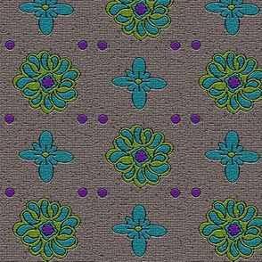 Floral Dots Mosaic