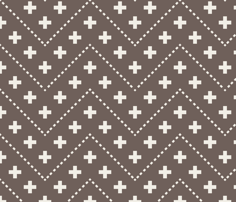 farmhouse_plus_and_dash_brown fabric by holli_zollinger on Spoonflower - custom fabric