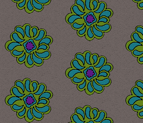 Floral Dots Mosaic- Just Flowers