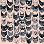 Black Cat Faces