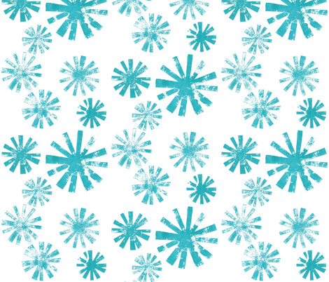 Starburst - aqua fabric by cameronhomemade on Spoonflower - custom fabric