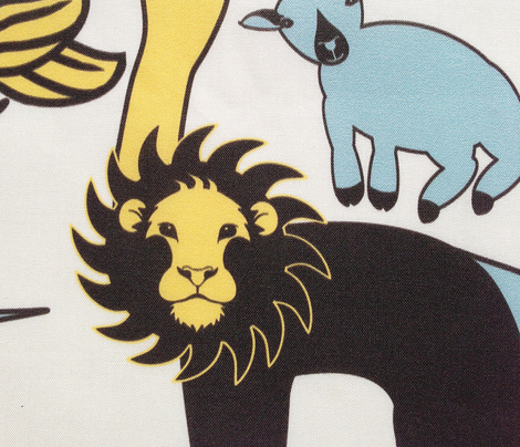 Lion Lamb Blue/Yellow