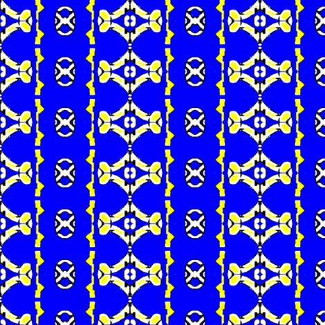 Yellow and blue crosses and diamonds fabric by dk_designs on Spoonflower - custom fabric