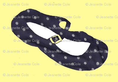 Navy Polka Dot Mary Janes