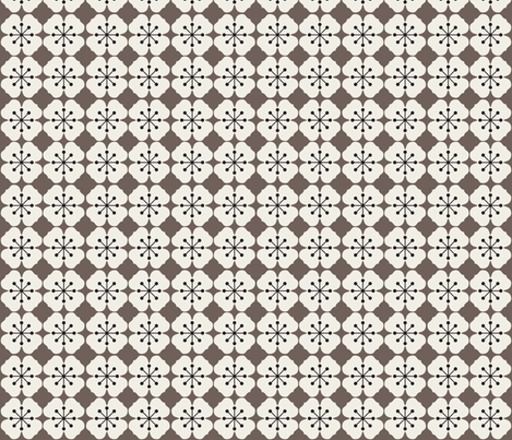 farmhouse_flowerbed_brown fabric by holli_zollinger on Spoonflower - custom fabric