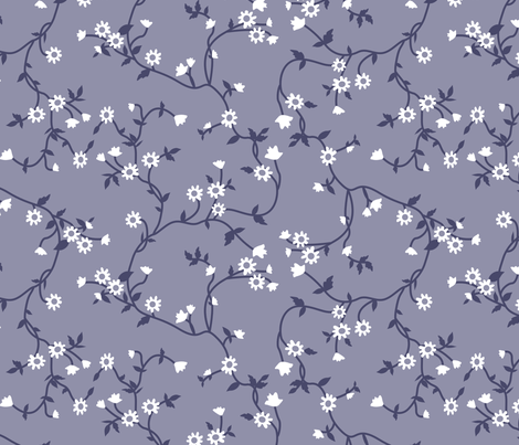 Pioneer Flowered Vines fabric by janelle_wooten on Spoonflower - custom fabric