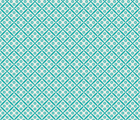 farmouse_scratch_aqua fabric by holli_zollinger on Spoonflower - custom fabric
