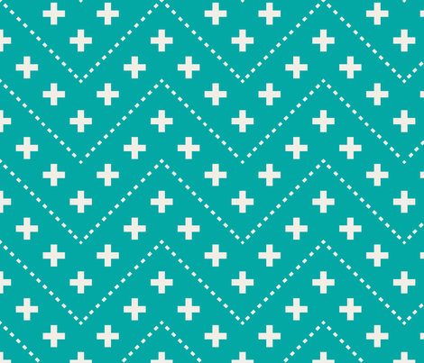 farmhouse_plus_and_dash_aqua fabric by holli_zollinger on Spoonflower - custom fabric