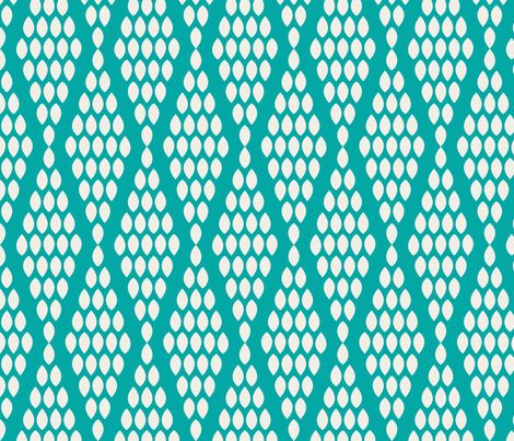 farmhouse_beaded_triangle_aquamarine fabric by holli_zollinger on Spoonflower - custom fabric