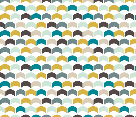 NauticalScallops fabric by mrshervi on Spoonflower - custom fabric